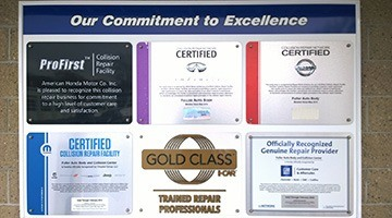 Certificates | Fuller Auto Body