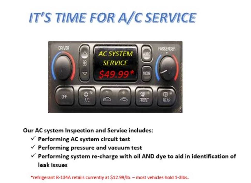 May Special - A/C Service | Fuller Automotive
